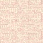 Sale! 1/2  yard Emmy Grace Little Town Glee Art Gallery Fabrics EMG4601 pink