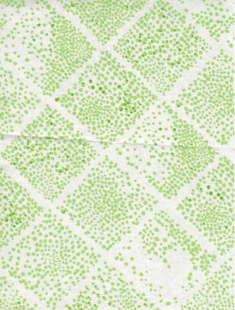 Sale 1 yard Dear Stella green dots OOP HTF image 0