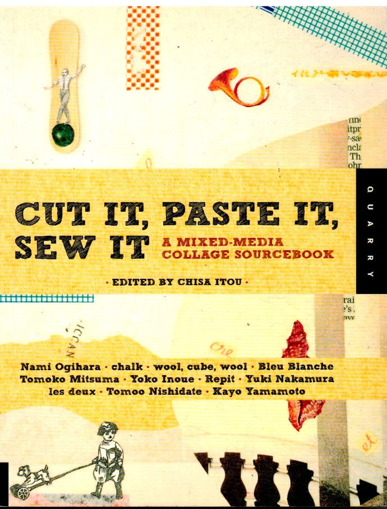 Clearance Cut It Paste It Sew It  A Mixed-Media Collage image 0