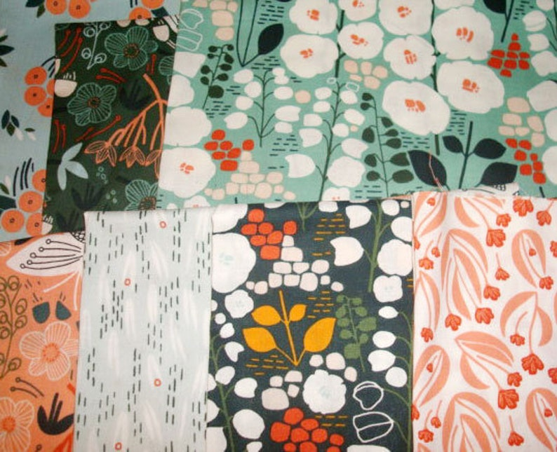 Sale 7 fat eighths bundle Stockbridge Cloud 9 Organic Fabrics image 0