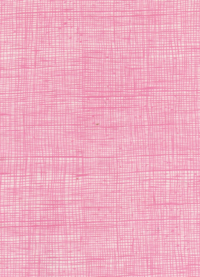 Clearance 1/2 yard Alexander Henry Pink Crosshatch Heath image 0