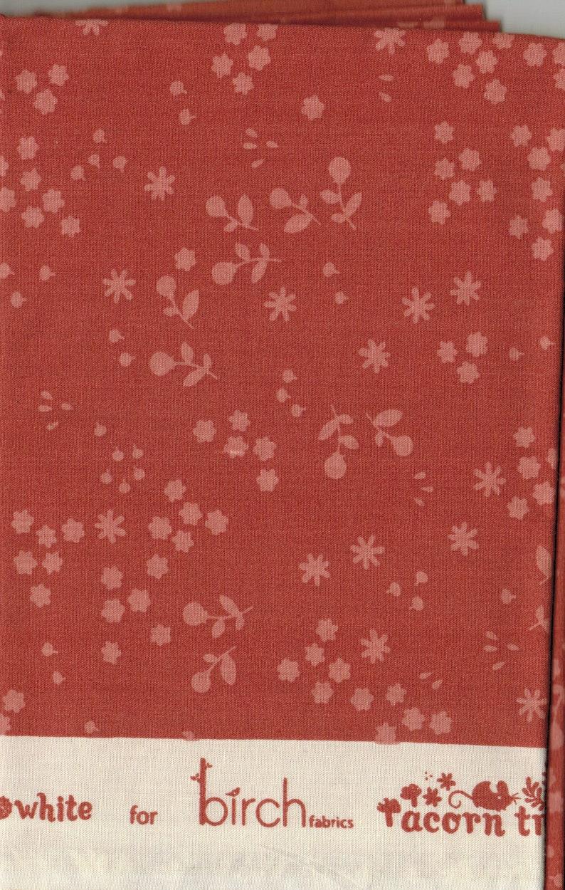 Clearance 1/2 yard Birch Organic Fabric   Acorn Trail by image 0