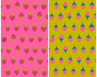 Clearance! Two Half yards of Alison Glass Apple Andover Fabrics - total of one yard