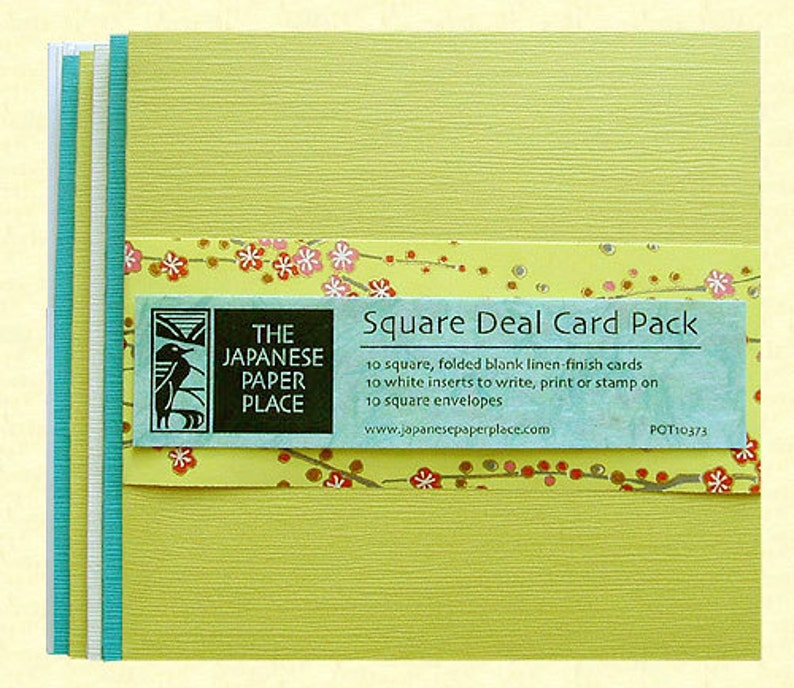 Sale Japanese Cards  Square Deal 10 Card Pack Spring  image 0