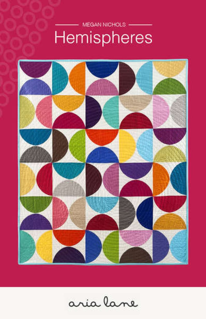 CLEARANCE Aria Lane Hemispheres Quilt Pattern designed by image 0