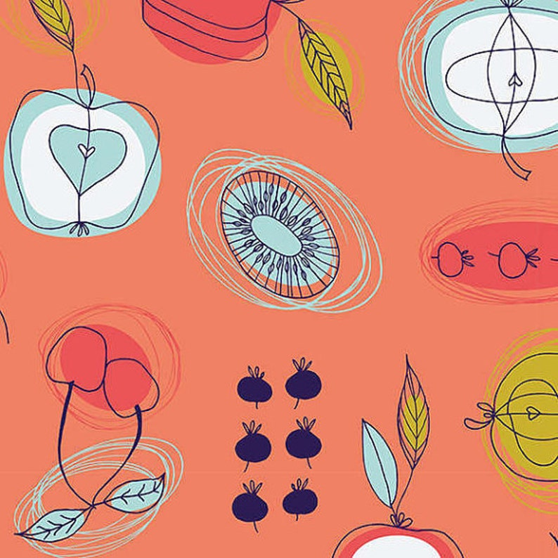 Clearance 1/2 yard Fruit Stand by Jane Farnham Camelot Fabrics image 0