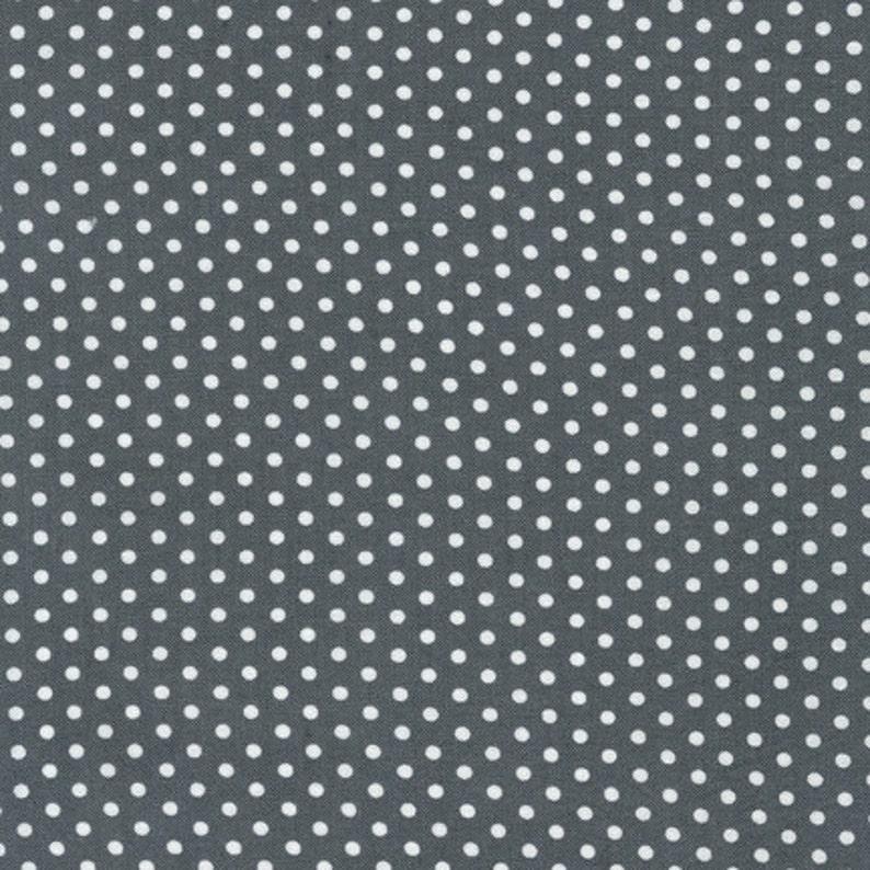 Clearance 1 yard Spot On Grey Gray Robert Kaufman EZC-12873-12 image 0