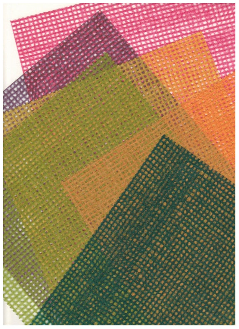 Sale Japanese Grid Tissue Papers 60 sheets 6 colors  10 image 0