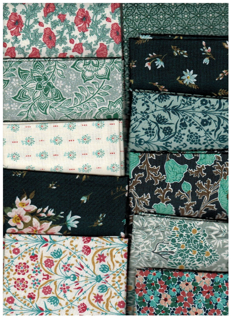 Sale 11 Fat Quarters of Tranquil Winterbourne by Liberty of image 0