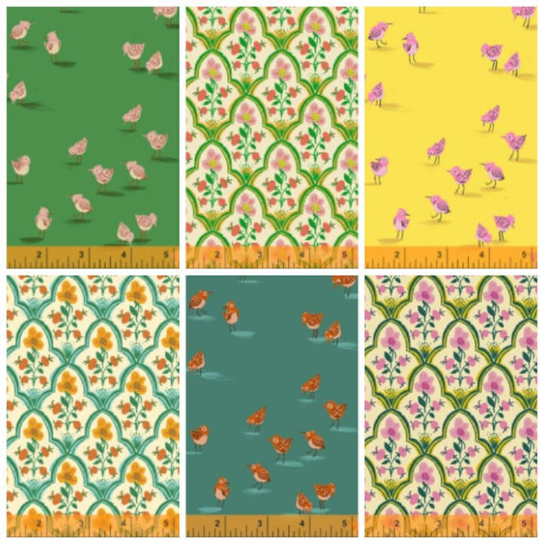 Sale 6 Fat Quarters Malibu by Heather Ross for Windham  Wood image 0