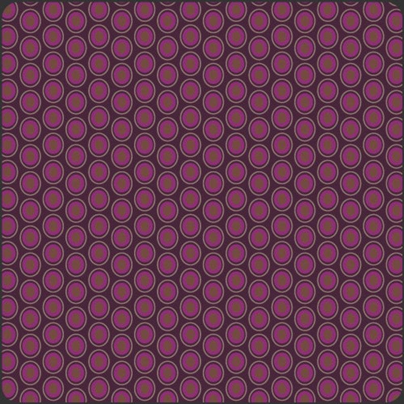 Sale 1/2 yard Eggplant Oval Elements Art Gallery Fabrics OOP image 0