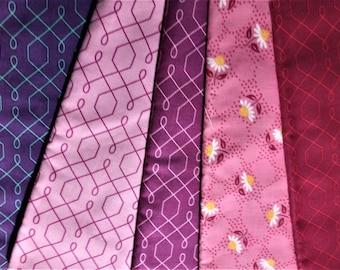 Clearance! Five Half Yard pieces of Emma's Garden Patty Sloniger Michael Miller Fabrics OOP - total 2 1/2 yard - each fabric is 1/2 yard