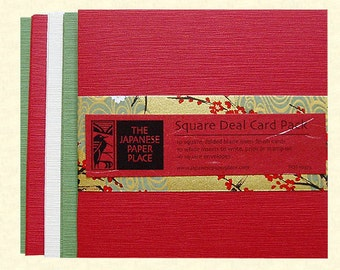 Clearance! Square Deal 10 Card Pack Holiday - Japanese Paper Place