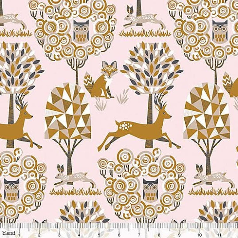 Clearance 1/2 yard Natural Wonder Enchanted Forest designed image 0