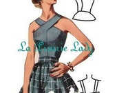 1950s Sewing Patterns | Dresses, Skirts, Tops, Mens Repro Vintage Pattern Halter Top 50s No 6 Repro on Printable PDF Size B34 $5.59 AT vintagedancer.com