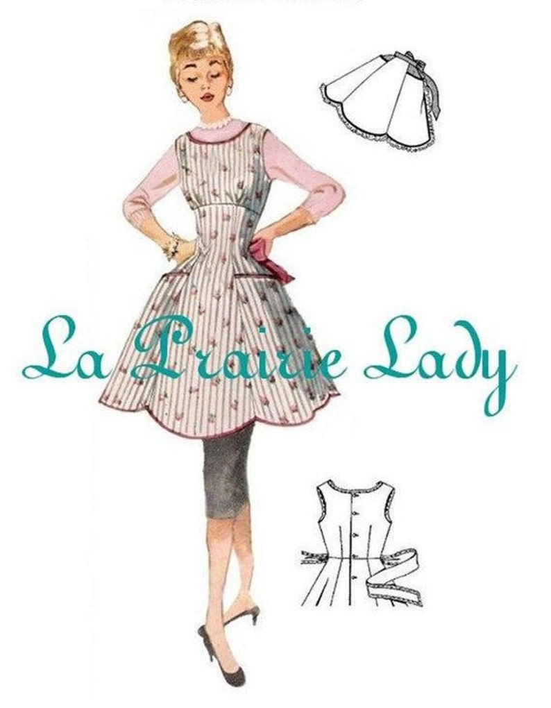 Vintage Aprons, Retro Aprons, Old Fashioned Aprons & Patterns Repro Vintage Full and Half Apron Pattern 50s on PDF No 17 Available in M-L-XL $5.59 AT vintagedancer.com