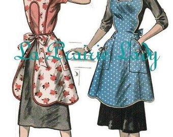 Vintage Full Apron 50's PDF Pattern No 22 Available in M-L-XL