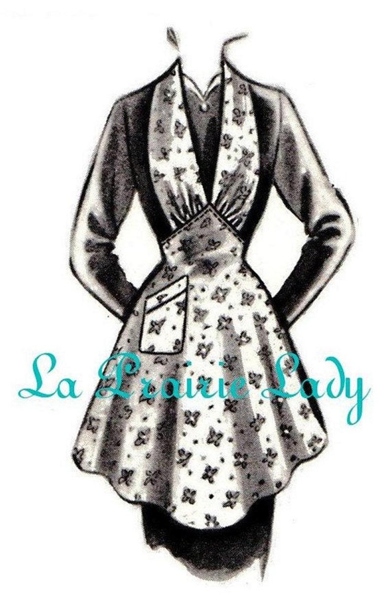 Vintage Aprons, Retro Aprons, Old Fashioned Aprons & Patterns Repro Vintage Halter Apron 40's No 19 on Printable PDF Available in M-L-XL $5.87 AT vintagedancer.com