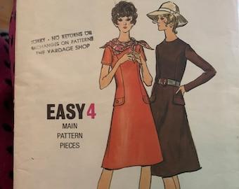 Vintage Butterick 6102 A-line dress pattern 1970's