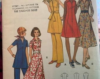 Vintage Butterick 6098 dress pants tunic pattern 1970's