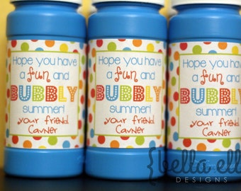 Bubble wrap end of school gift personalized printable