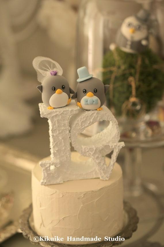 Penguins Wedding Cake Topper K429 | Etsy