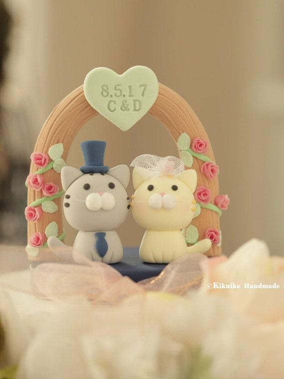 kitty Wedding Cake Topperk831 | Etsy