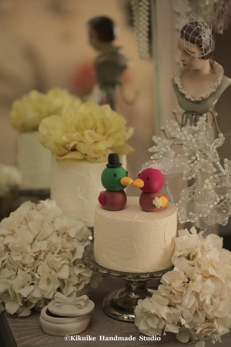 Korean Duck Wedding Cake Topper Handmade korean ducks cake ...