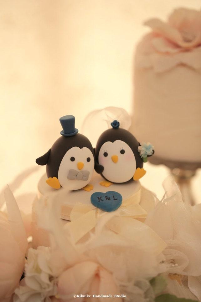 penguins Wedding Cake Topper-love Penguins   Etsy