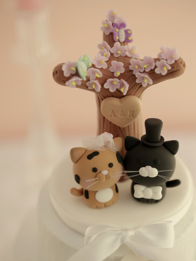 cat wedding cake topper kitty Wedding Cake Topperpets image 0