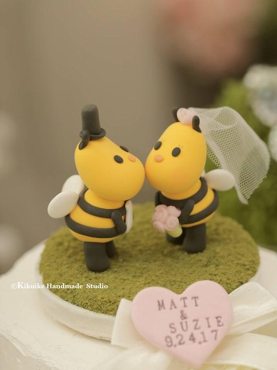 Kissing Bees wedding cake topperladybug wedding cake topper   Etsy