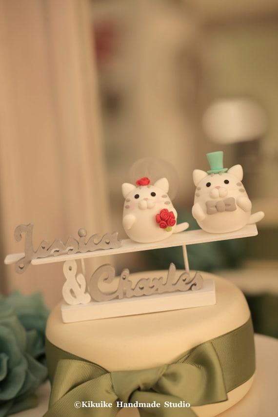 cat and kitty Wedding Cake Topperk820 | Etsy