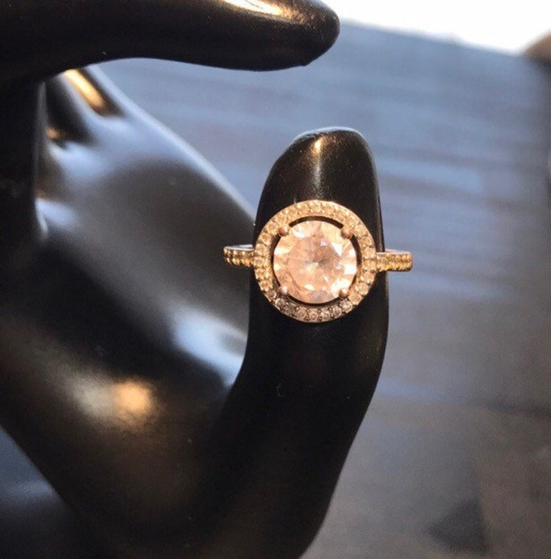 Vintage Engagement Ring Silver Antique Ring Vintage Silver image 0