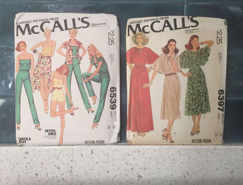 Vintage Sewing Patterns 1970s McCalls Sewing Pattern Size 14 image 0