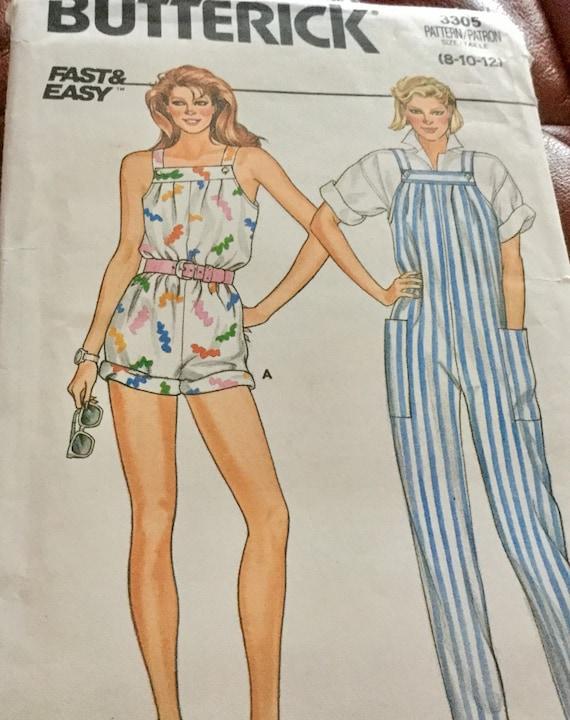 Butterick 3305 Misses/' Vests  Sewing Pattern