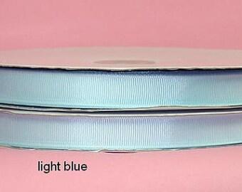 "7/8"" x 50 yards Solid Grosgrain Ribbon -  LIGHT BLUE"