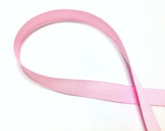 "7/8"" x 50 yards Solid Grosgrain Ribbon -  LIGHT PINK"