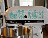 Pyrex Amish Butterprint Vinyl Decals for your Kitchen aid Mixer