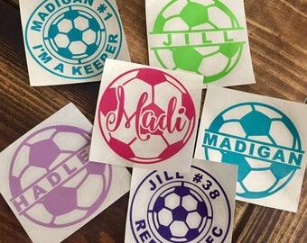 Soccer Ball Name Decal