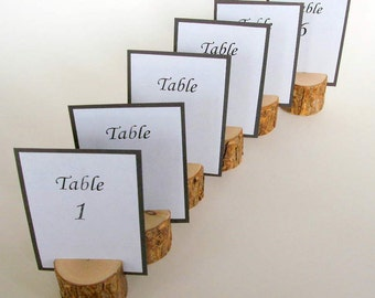 Rustic Wedding Table Card Holders Handmade to Order