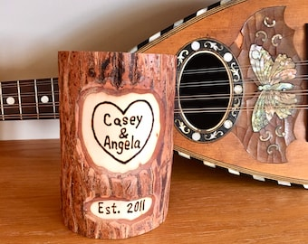 9th Anniversary Willow Hanging or Standing Plaque  with Free Wood Burned Inscription