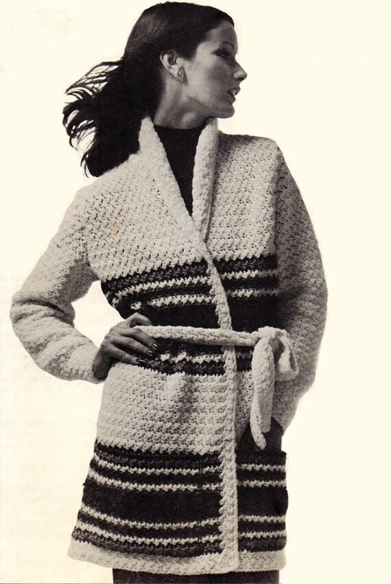 Crochet Pattern Womens Long Sweater Coat Crochet Pattern Etsy