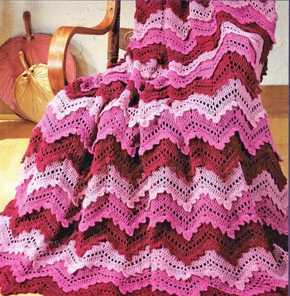 Afghan Crochet Pattern Crochet Afghan Pattern Ripple Afghan | Etsy