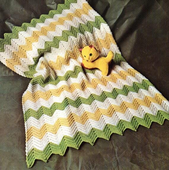 Baby Crochet Pattern Easy Crochet Baby Afghan Pattern Zig Etsy
