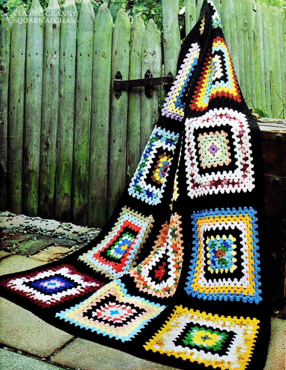 Afghan Crochet Pattern Crochet Afghan Pattern Classic Granny Etsy