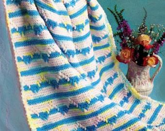 Baby Crochet Pattern, Striped Crochet Baby Blanket Pattern, Crochet Baby Carriage Cover Pattern, INSTANT Download Pattern PDF (1334)