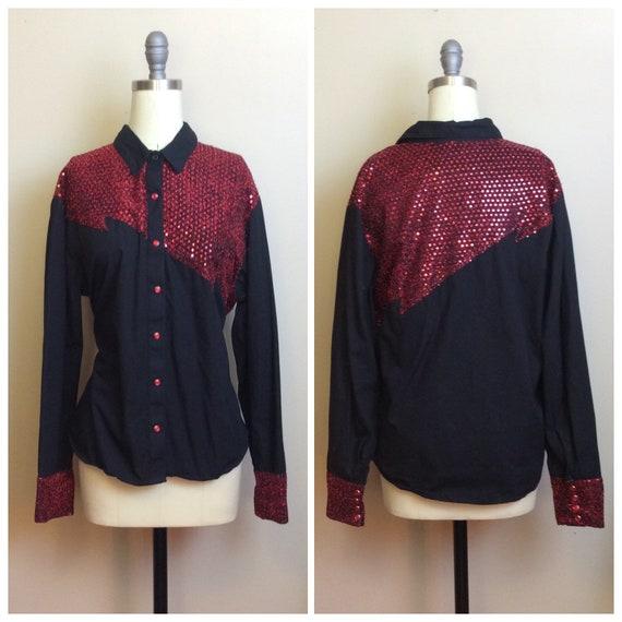 1980s Vintage Cotton Panhandle Slim Pearl Snap Shi