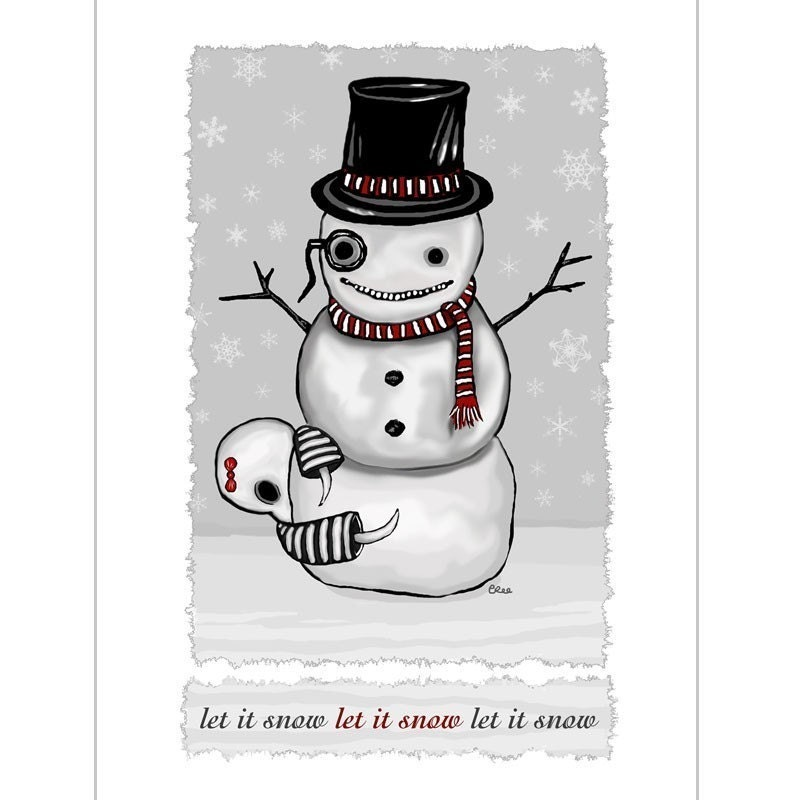 Ennui Let it Snow GingerDead Goth Greeting Cards Gothic | Etsy