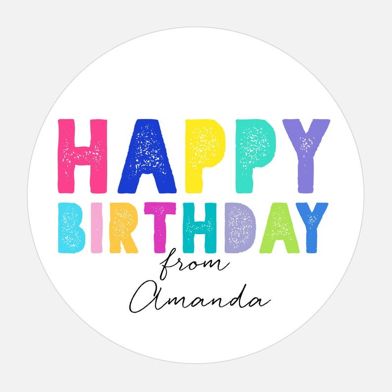 Personalized Happy Birthday Stickers Gift