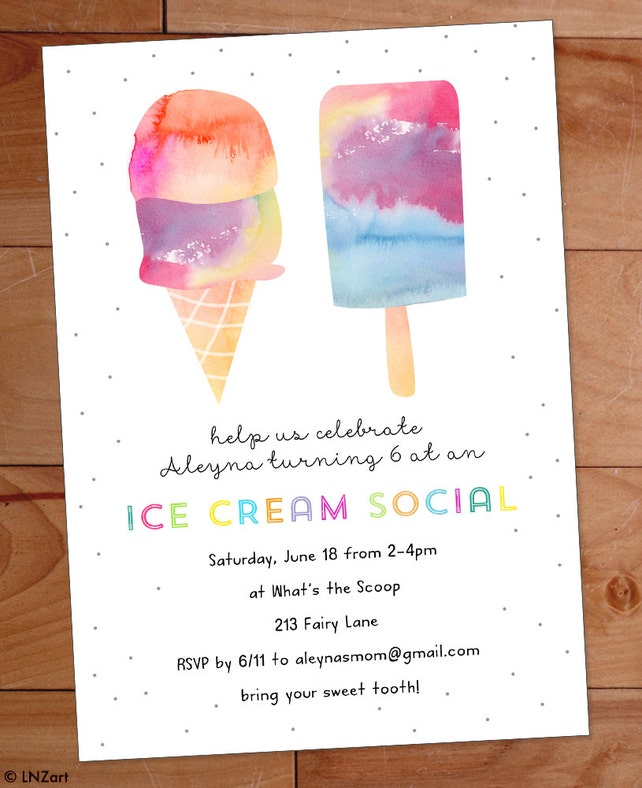 Ice cream party invitation ice cream birthday party invite etsy image 0 filmwisefo